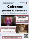 Journées du patrimoine 2016 -Vitraux arts sacrés Cairanne Vaucluse