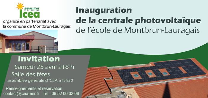 Inauguration de la centrale photovoltaïque citoyenne de l'école de Montbrun