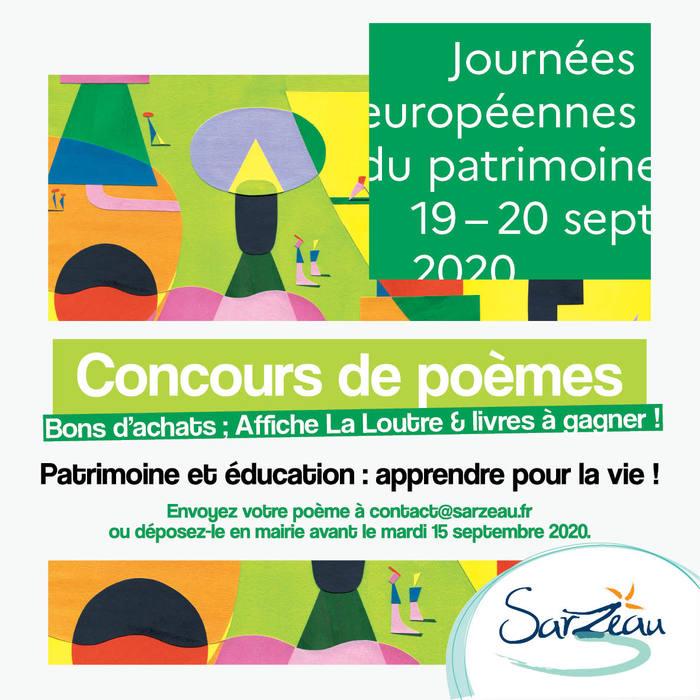 Journées du patrimoine 2020 - Concours de poèmes