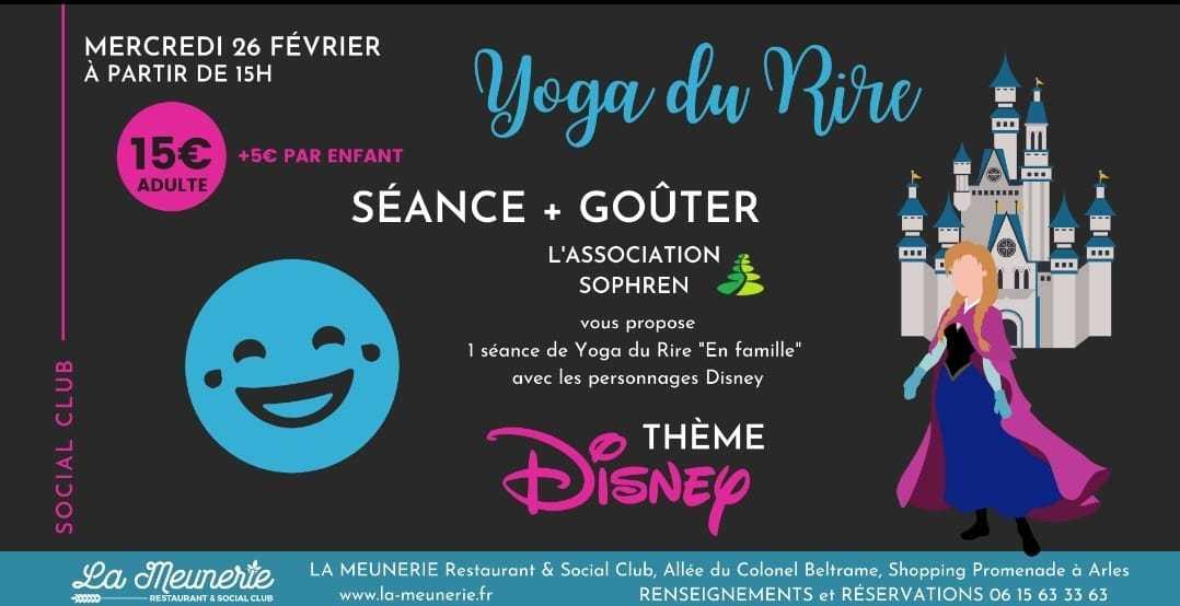 Séance de yoga du rire parents - enfants sur le thème de Disney suivie d'un goûter pour petits et grands