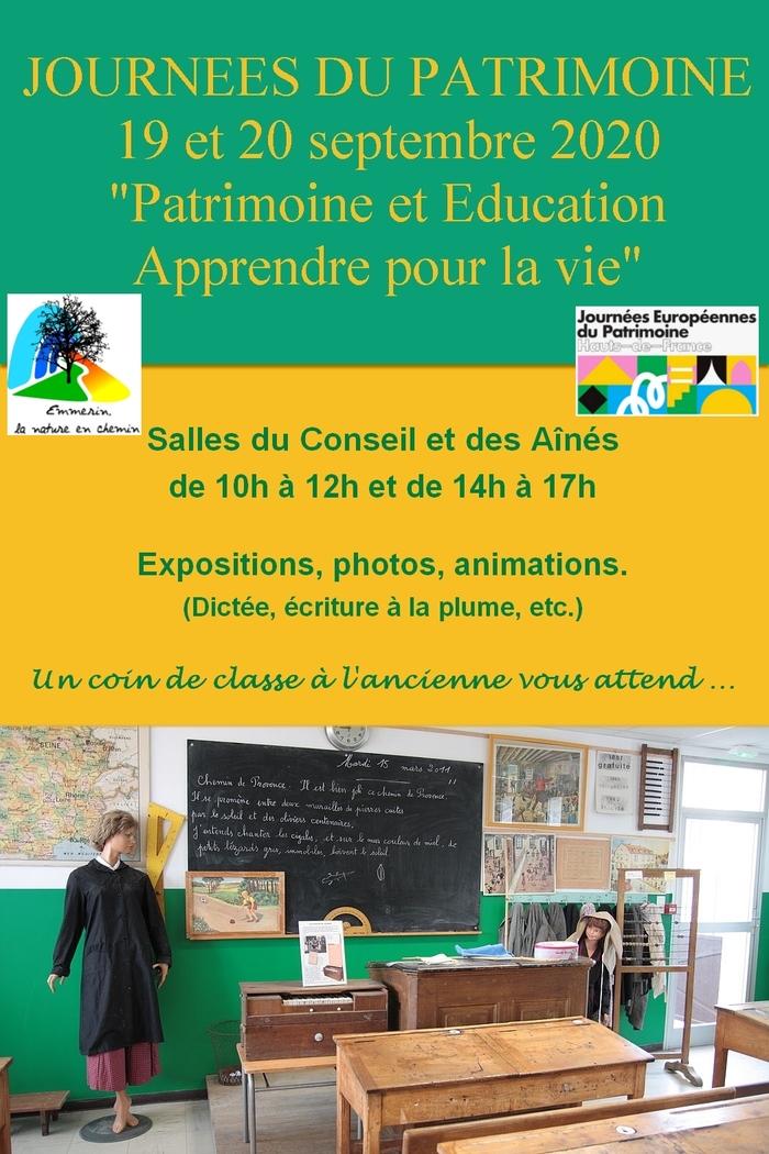 Journées du patrimoine 2020 - Expositions, photos, animations... un coin de classe à l'ancienne vous attend à Emmerin