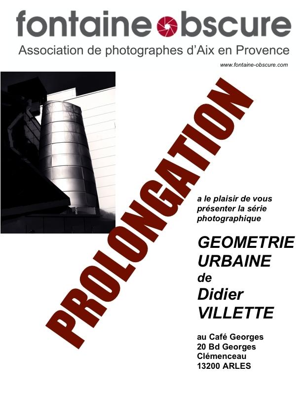 """Exposition de la série photographique """"Géométrie urbaine"""" de Didier Villette au Café Georges"""