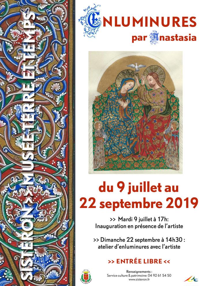 Journées du patrimoine 2019 - Exposition d'enluminures