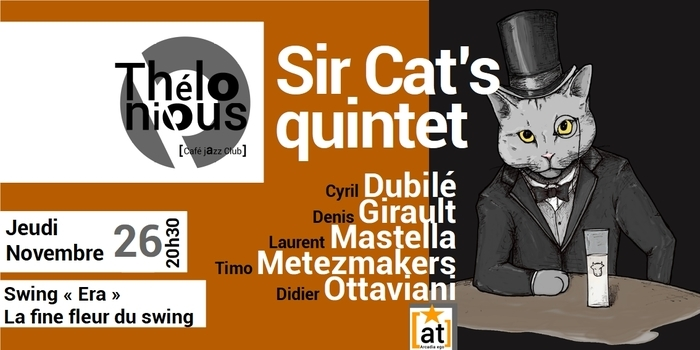 Annulé | SIR CAT'S QUINTET – THELONIOUS CAFE JAZZ CLUB