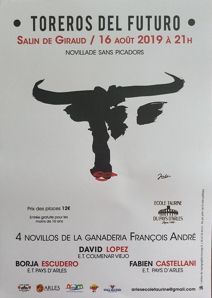 Novillada sans picador organisée par l'école taurine du Pays d'Arles
