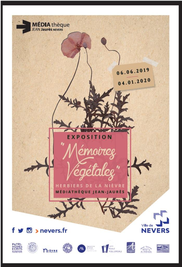 Journées du patrimoine 2019 - Visite commentée de l'exposition Mémoires Végétales, herbiers de la Nièvre
