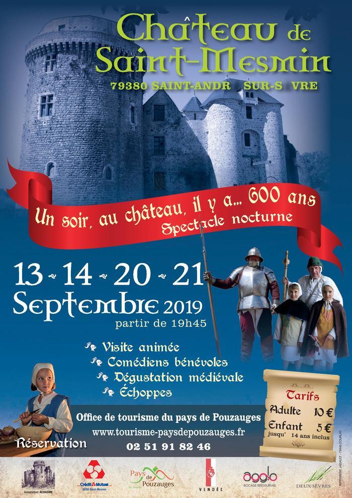 Journées du patrimoine 2019 - Un soir au château, il y a ... 600 ans.