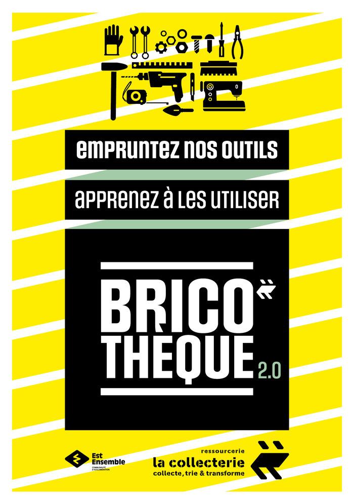Empruntez les outils de la Bricothéque tous les samedis et participez aux ateliers menuiserie, tapisserie, couture et luminaire.