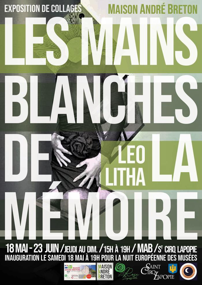 Nuit des musées 2019 -Les Mains Blanches de la Mémoire - Exposition de Collage de Léo Litha