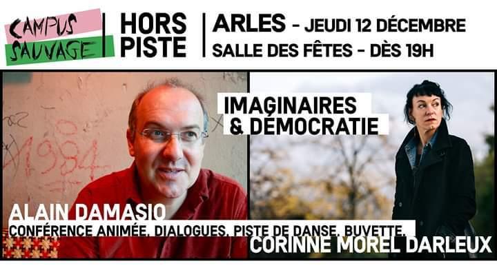 Campus Sauvage Le retour ! soirée exceptionnelle avec les auteurs Alain Damasio et Corinne Morel Darleux