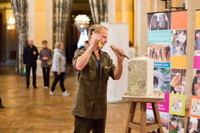 Journées du patrimoine 2020 - Atelier taille de pierre et présentation des chantiers de restauration du patrimoine