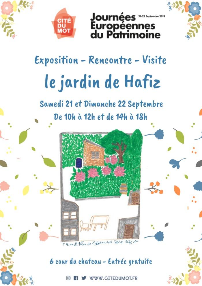 Journées du patrimoine 2019 - Exposition - Rencontre - Visite : Le Jardin de Hafiz