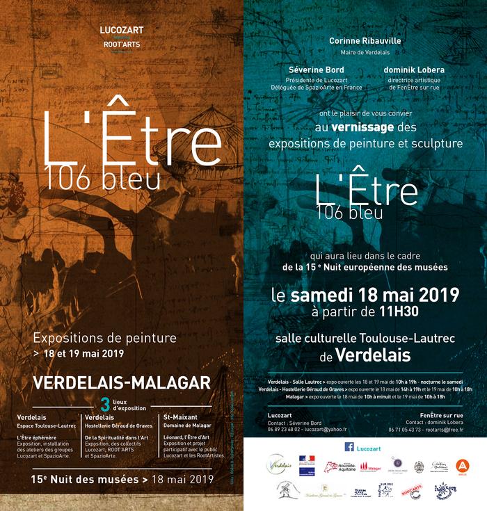 Nuit des musées 2019 -De 10h à minuit // Exposition L'Être 106 bleu dans 3 lieux