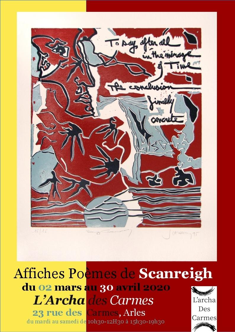 exposition des Affiches-Poèmes du peintre Scanreigh
