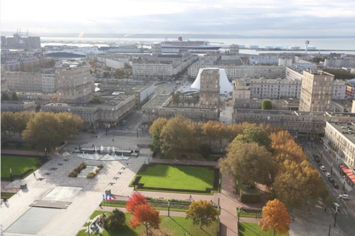 Journées du patrimoine 2019 - Lecture urbaine du Havre depuis le 17e étage de l'hôtel de ville