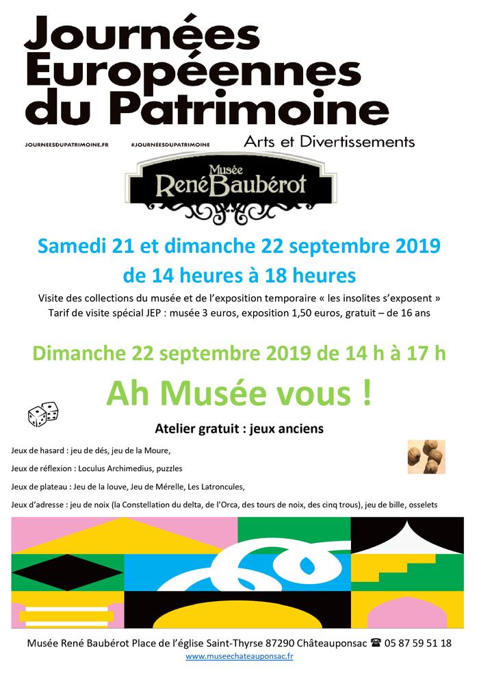 Journées du patrimoine 2019 - Ah Musée vous !