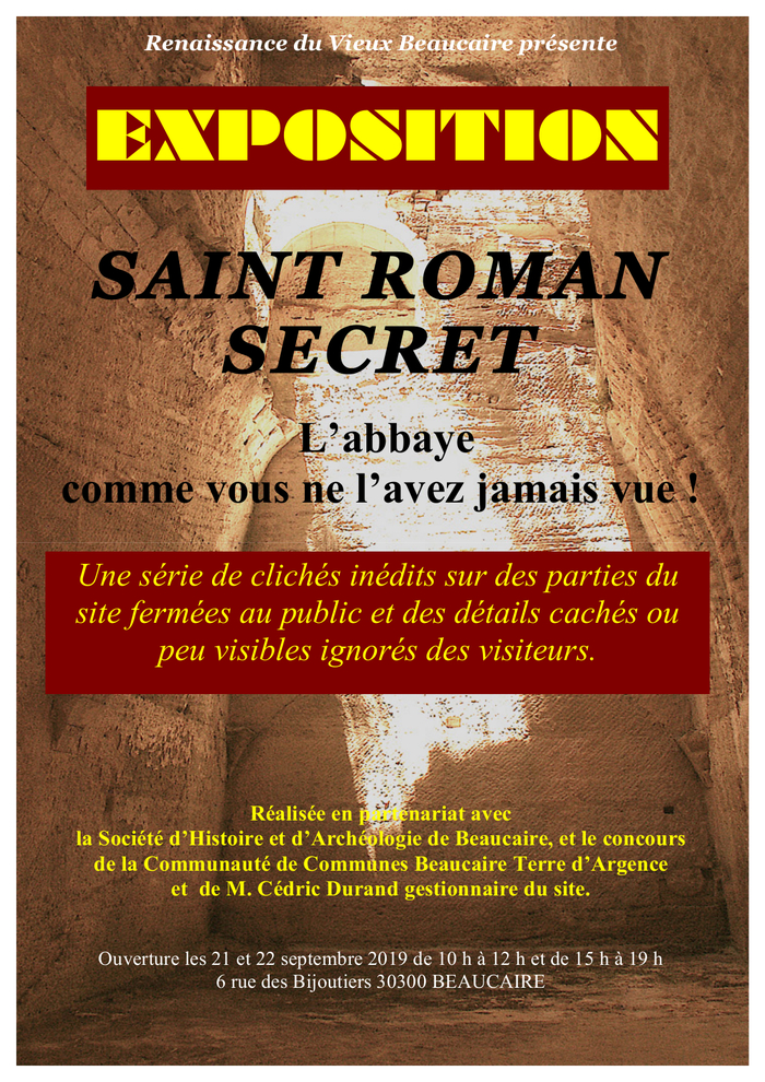 Journées du patrimoine 2019 - Aspects insolites de Saint-Roman