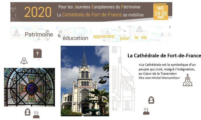 Journées du patrimoine 2020 - FdF / Visites guidées interactives de la cathédrale de Fort-de-France