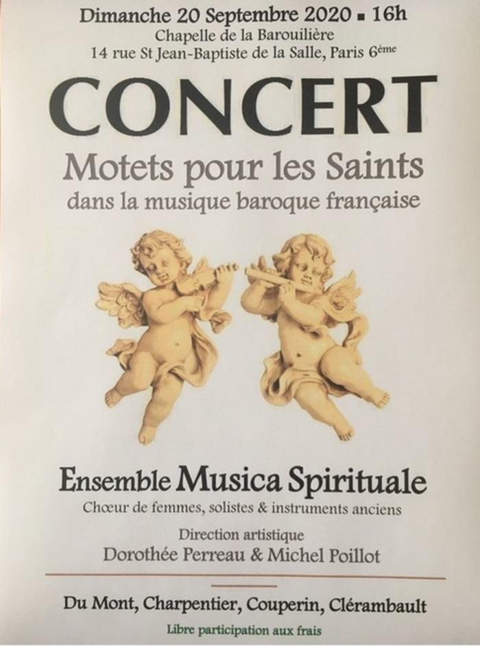 Journées du patrimoine 2020 - ANNULÉ - Concert de musique baroque française