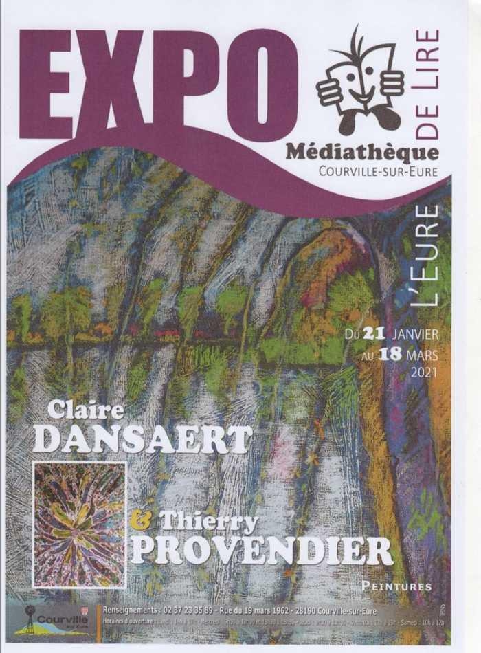 Exposition de peintures de Claire Dansaert et Thierry Provendier à Courville/Eure