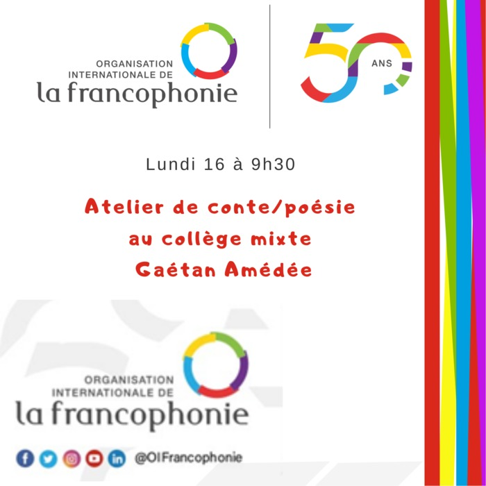 c'est une activité prevue dans le cadre de la quinzaine de la Francophonie pour les écoliers
