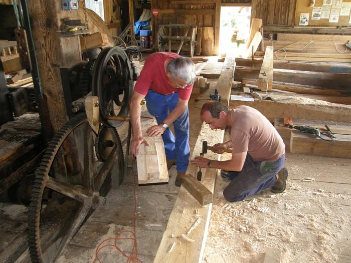 Journées du patrimoine 2019 - Chantier de charpenterie à la scierie hydraulique de Mandray