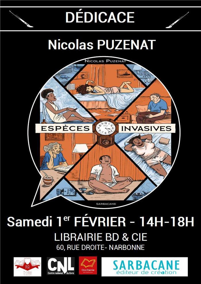 Nicolas PUZENAT sera en dédicace à la librairie BD & Cie de Narbonne le samedi 1er février de 14h à 18h pour sa toute première BD parue aux éditions Sarbacane !