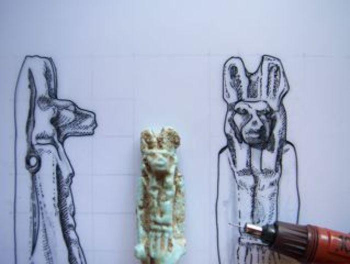 Journées du patrimoine 2020 - Atelier d'initiation au dessin d'objet archéologique égyptien