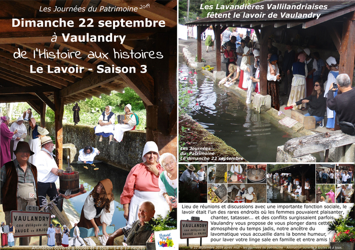 Journées du patrimoine 2019 - Les Lavandières fêtent le lavoir de Vaulandry