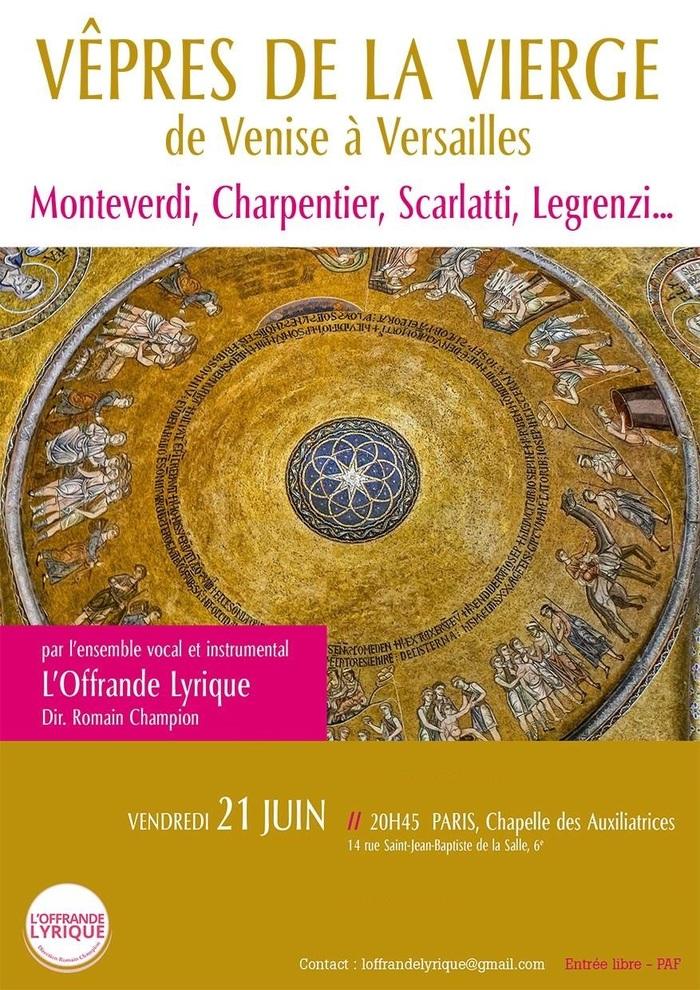 Fête de la musique 2019 - Vêpres de la Vierge de Venise à Versailles
