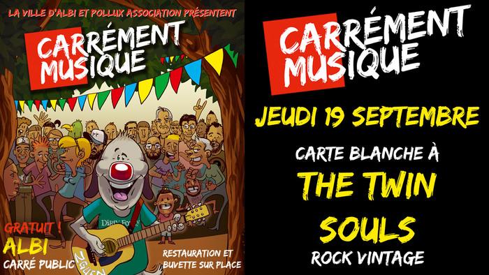 Pour le concert Carrément Musique de la rentrée, Pollux Asso donne carte blanche à The Twin Souls pour vous conconcter une soirée rock'n'roll à souhait !