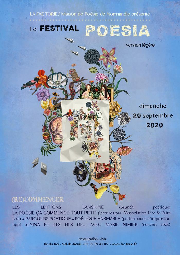 Journées du patrimoine 2020 - Spectacle : festival Poesia & découverte de la Factorie - maison de poésie de Normandie