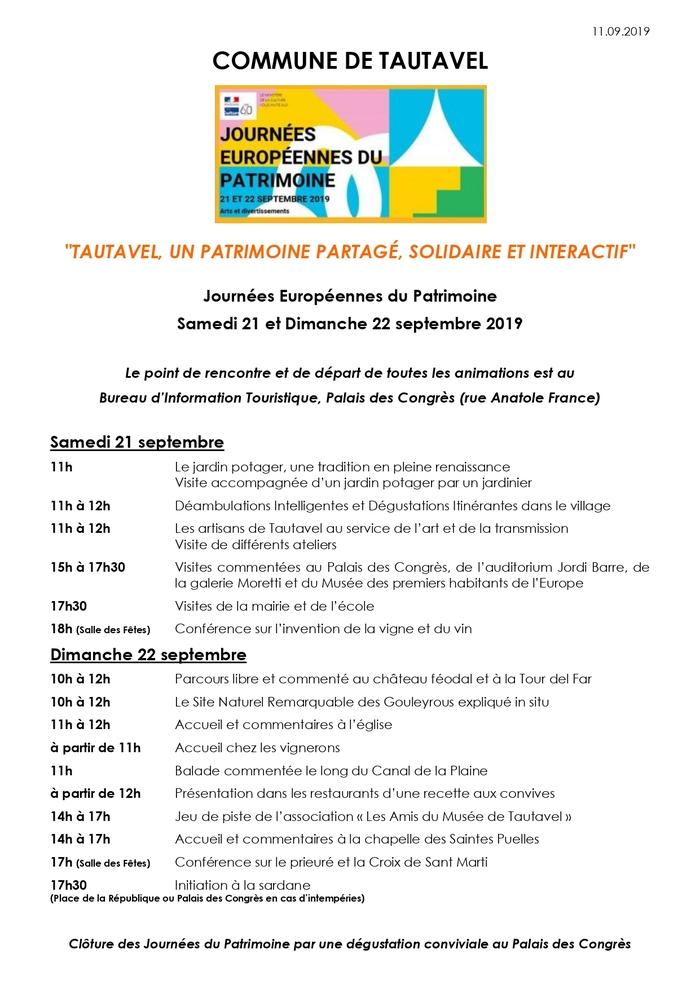 Journées du patrimoine 2019 - Tautavel, un patrimoine partagé, solidaire et interactif