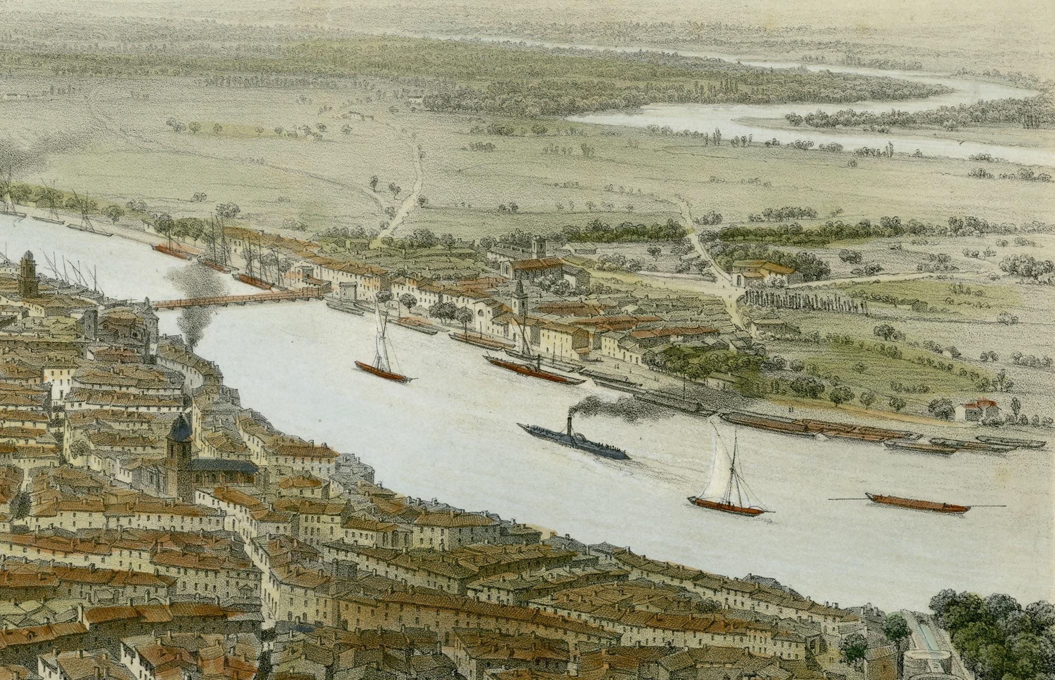 Exposition de documents anciens sur le thème du Rhône