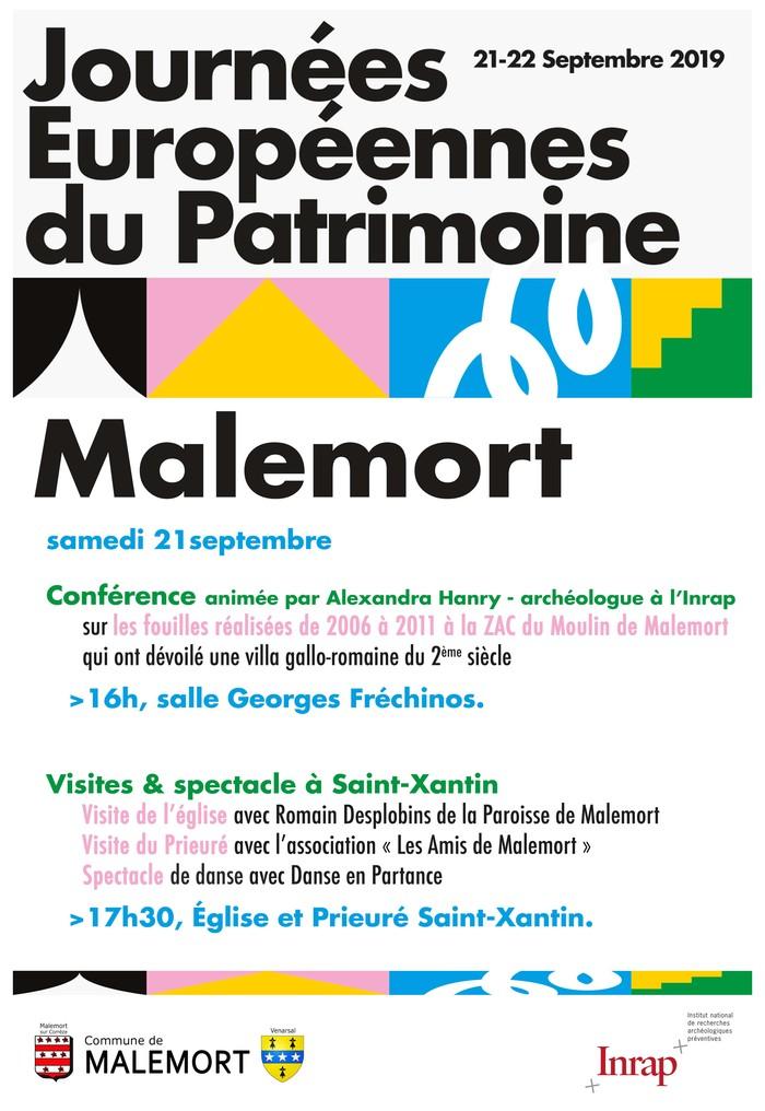 Journées du patrimoine 2019 - Conférence sur les fouilles d'une villa gallo-romaine du IIe siècle à Malemort