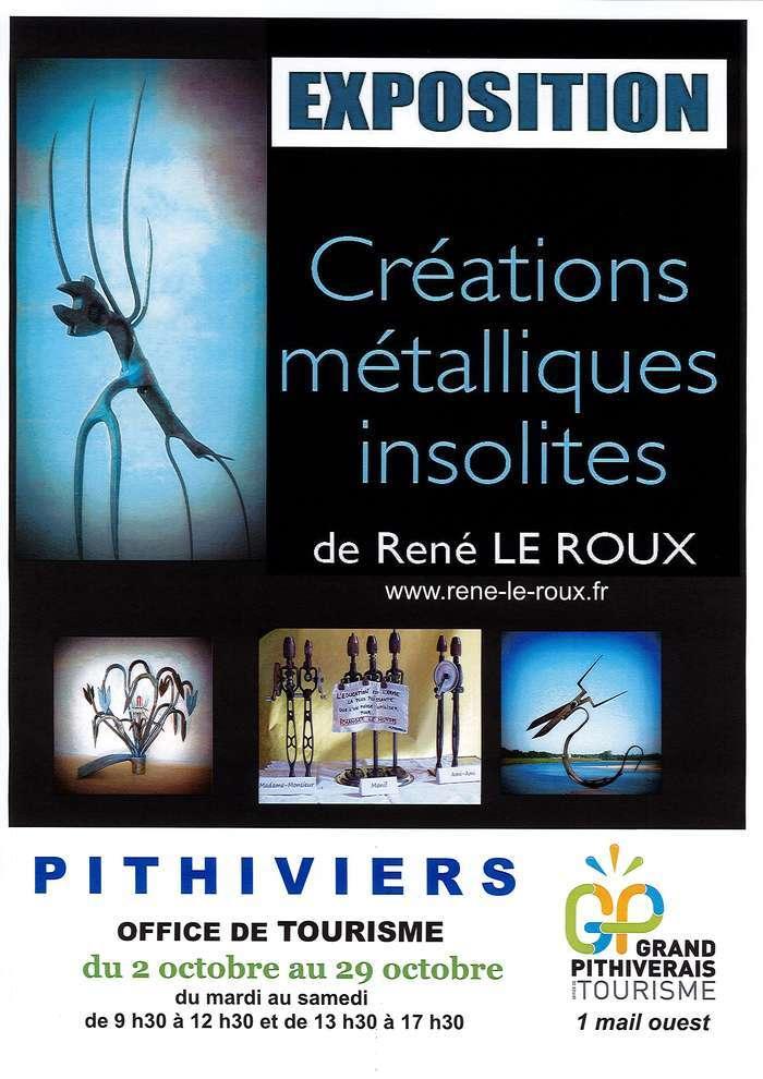 Exposition de créations métalliques insolites - René le Roux