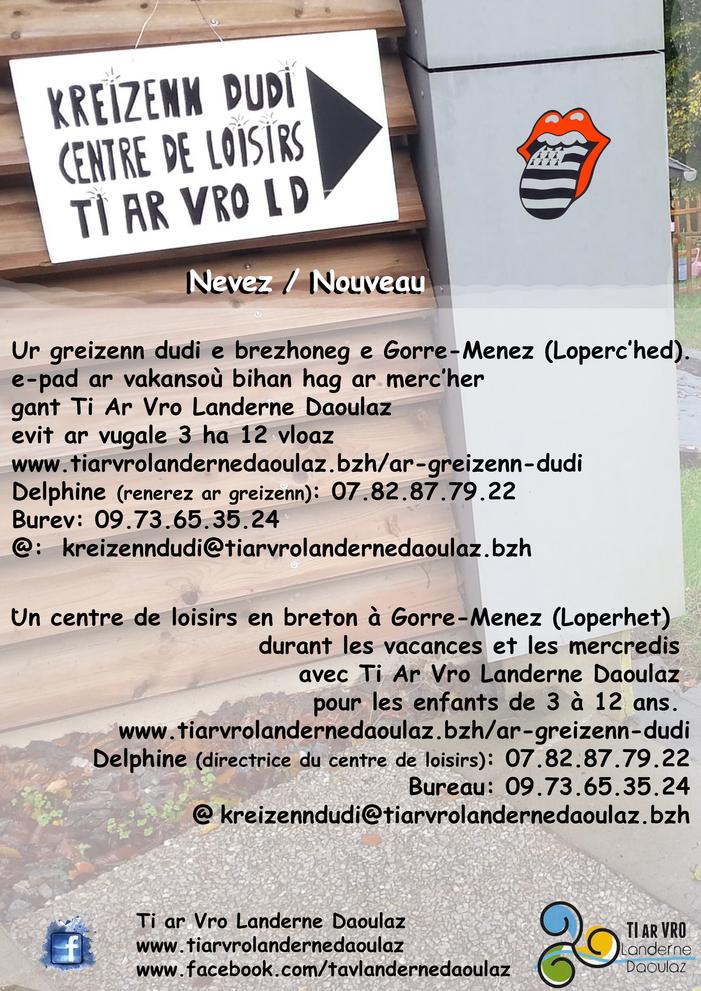 Un centre de loisirs en breton