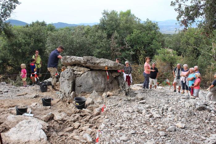 Journées du patrimoine 2019 - Visite guidée d'un dolmen en cours de fouille