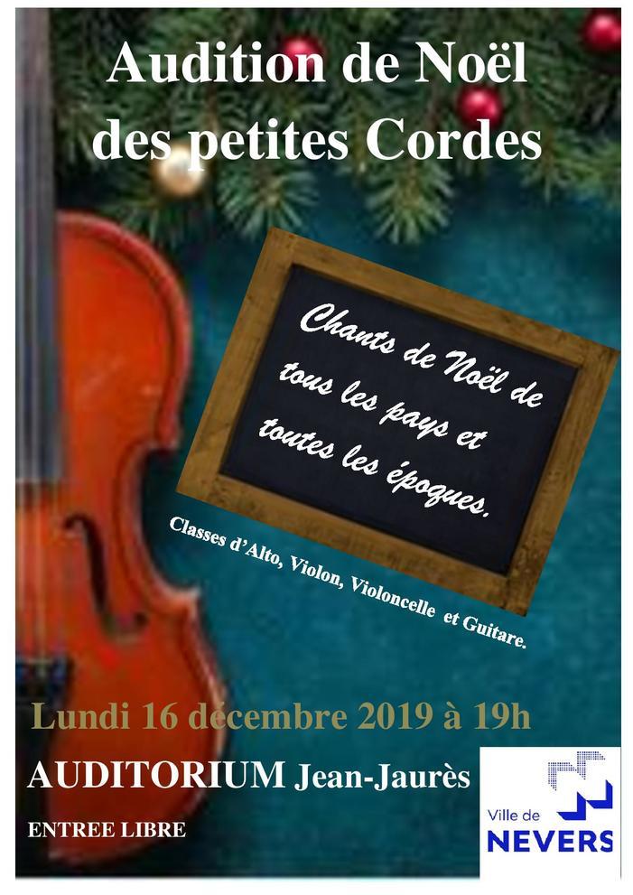 Audition de Noël des petites Cordes