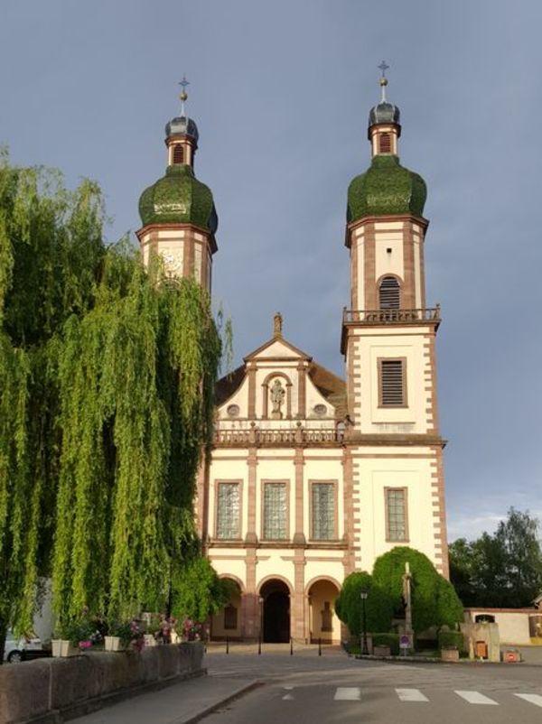 Crédits image : Façade de l'église abbatiale d'Ebersmunster - © Thierry Mignot