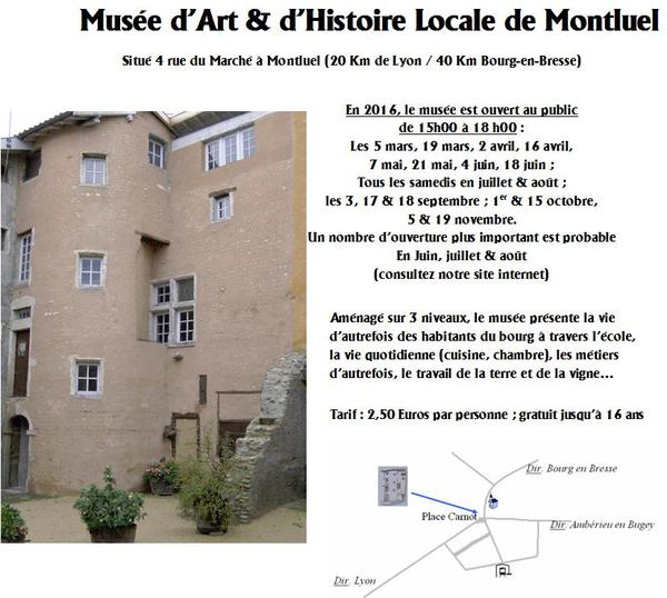 Nuit des musées 2019 -Musée d'art et d'histoire locale de Montluel
