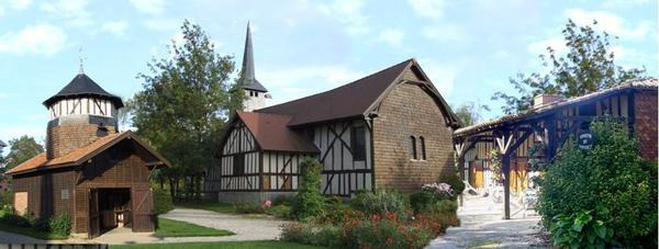 Crédits image : Vue d'ensemble du village musée du Der ©Village musée du Der