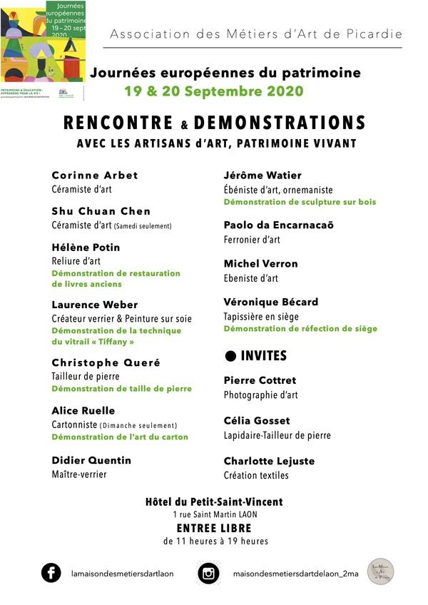 Crédits image : Association des Métiers d'art de Picardie
