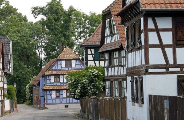 Crédits image : Maisons à pans de bois - © Ville de Souffelweyersheim