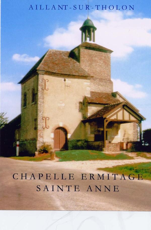 Journées du patrimoine 2017 - Chapelle Sainte Anne à Aillant sur Tholon