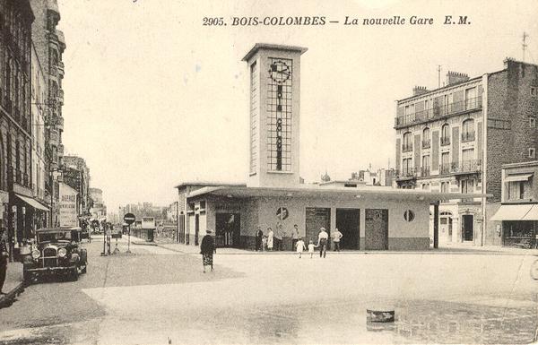 Crédits image : La gare de Bois-Colombes après 1936 (AMBC, E.M.)