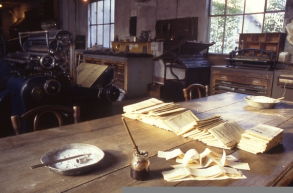 Journées du patrimoine 2019 - Atelier d'un journal de Louhans : visite libre d'un musée unique en France !