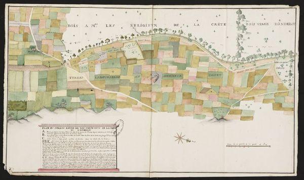 Crédits image : Plan des bois de la Crête et d'Andelot © Archives départementales de la Haute-Marne