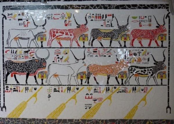 Journées du patrimoine 2017 - Mosaïque de Nefertari