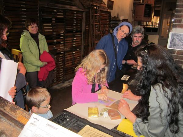 Nuit des musées 2018 -Atelier d'un journal - musée de l'imprimerie